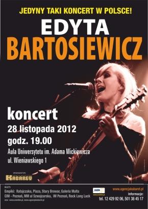 Edyta Bartosiewicz z koncertem w Poznaniu